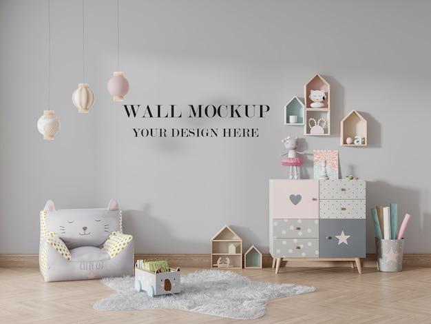 Макет детского сада для изменения поверхности стены Premium Psd