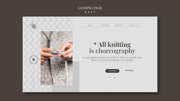 Modello di pagina di destinazione del concetto di maglia Psd Gratuite