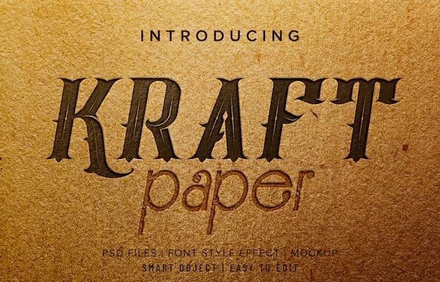Kraft paper font style effect Premium Psd