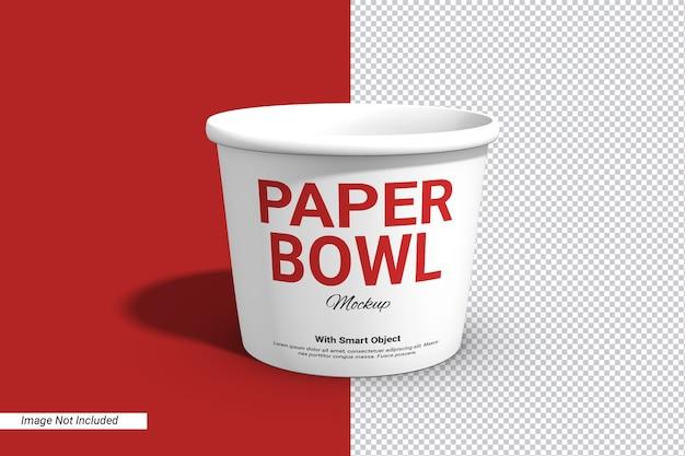 라벨 종이 그릇 컵 이랑 절연 프리미엄 PSD 파일