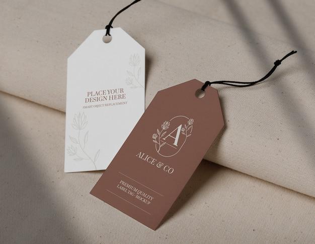 Thiết kế mockup thẻ nhãn Psd giảm giá chất lượng cao