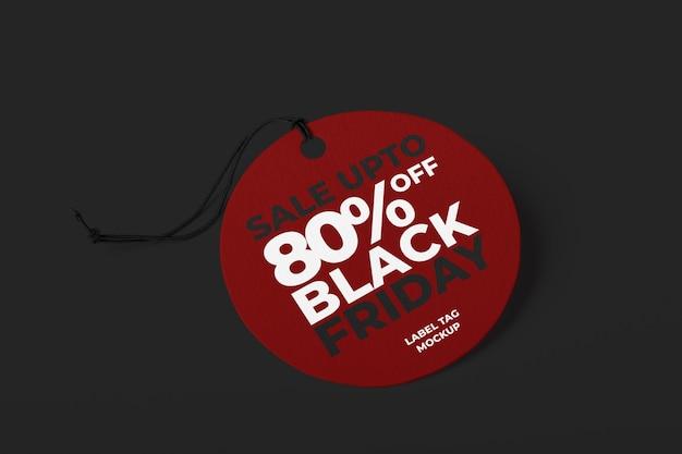 검은 금요일에 대한 레이블 태그 모형 템플릿 프리미엄 PSD 파일
