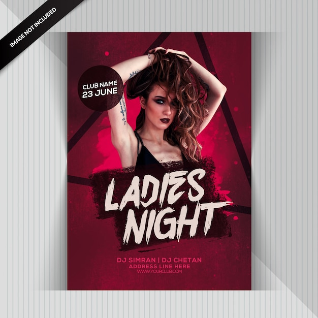 Ladies night party flyer Premium Psd