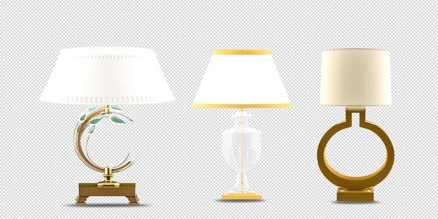 Лампы в вазе в 3d-рендеринге изолированы Premium Psd