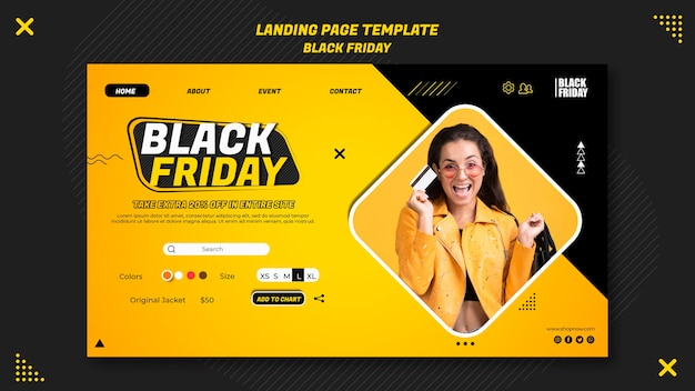 Landing page for black friday clearance Free Psd
