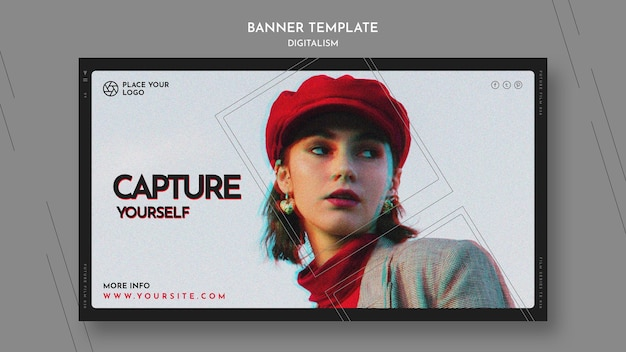 Landing page for capture yourself theme Free Psd