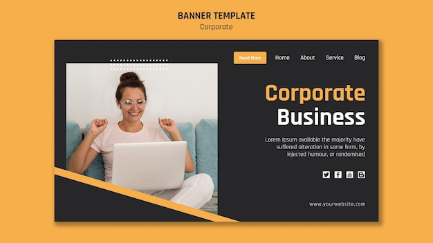 Landing page for corporate business Free Psd