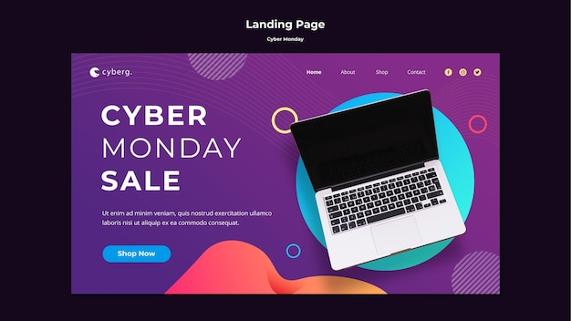 Landing page cyber monday template Free Psd | ux agencies