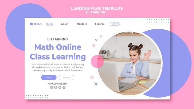 Modello di annuncio e-learning per la pagina di destinazione Psd Gratuite