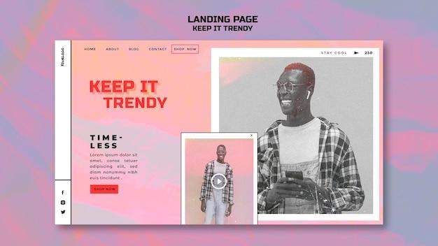 Шаблон целевой страницы модного магазина Бесплатные Psd