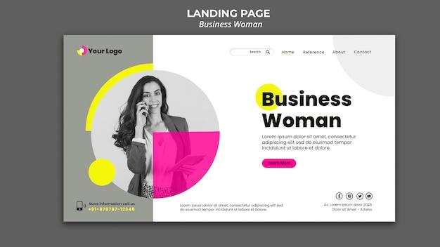 Целевая страница для бизнес-леди Premium Psd