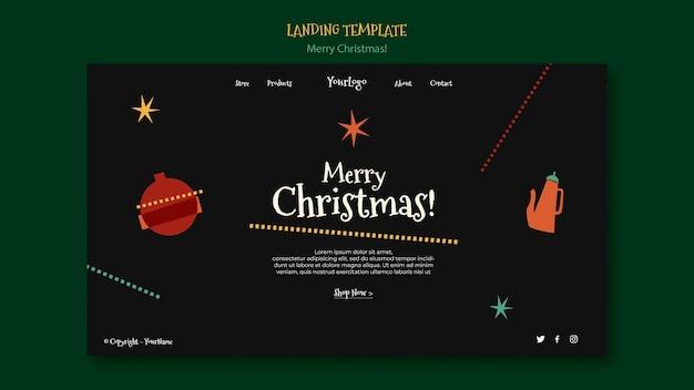 Целевая страница на рождество Бесплатные Psd