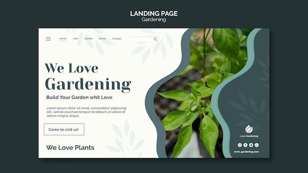 Целевая страница для садоводства Бесплатные Psd