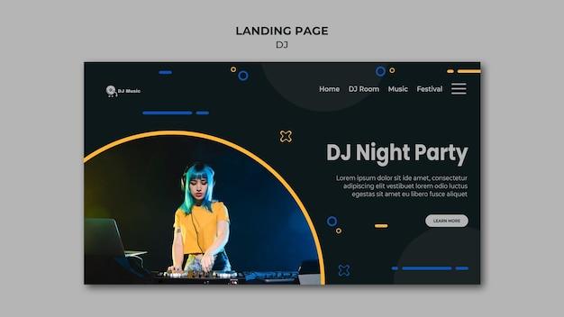 Целевая страница музыкального фестиваля Бесплатные Psd