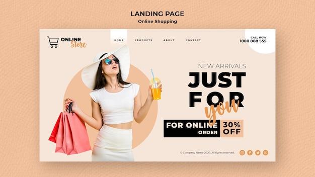 온라인 패션 판매를위한 방문 페이지 무료 PSD 파일