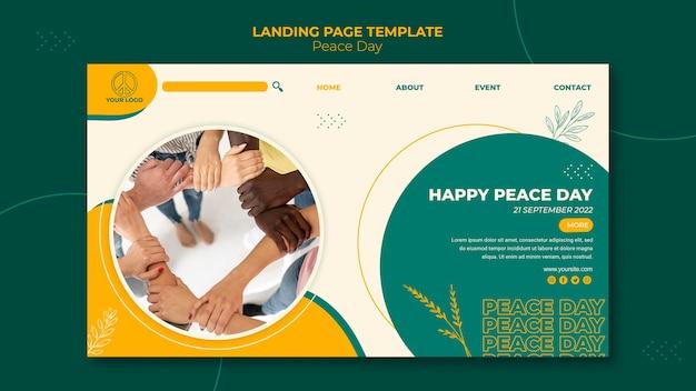 Pagina di destinazione per la giornata internazionale della pace Psd Gratuite