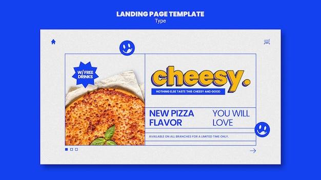 Pagina di destinazione per il nuovo sapore di pizza di formaggio Psd Gratuite