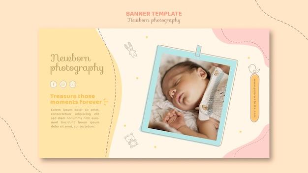 Целевая страница сонного ребенка Premium Psd