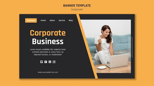 Landing page template for corporate business Free Psd