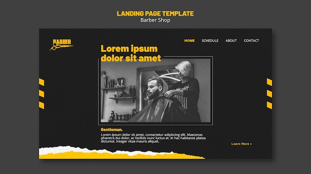 Шаблон целевой страницы для парикмахерской Premium Psd