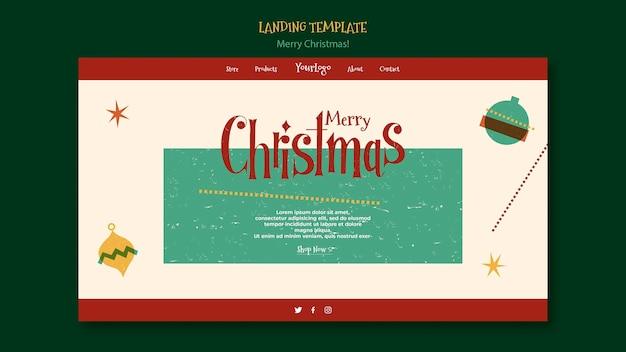 Шаблон целевой страницы на рождество Premium Psd