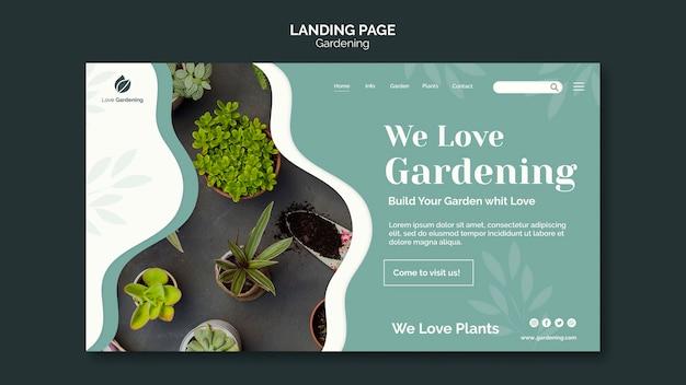 Шаблон целевой страницы для садоводства Бесплатные Psd