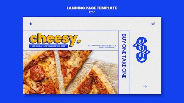 Modello di pagina di destinazione per il nuovo sapore di pizza di formaggio Psd Gratuite