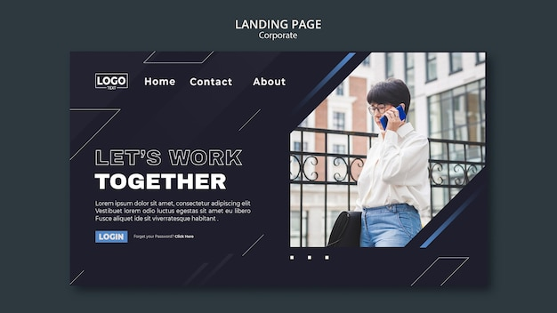 Landing page template for professional business corporation Premium Psd