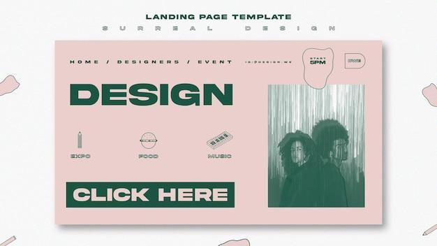 ランディングページテンプレートのシュールなデザイン 無料 Psd
