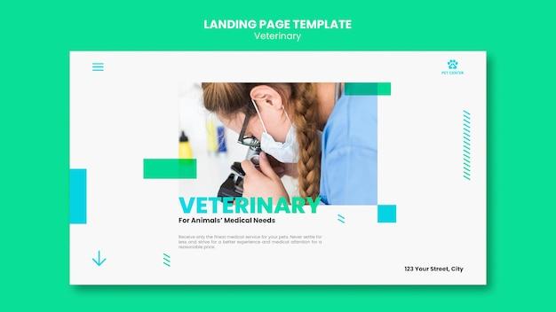 Modello di annuncio veterinario per pagina di destinazione Psd Gratuite
