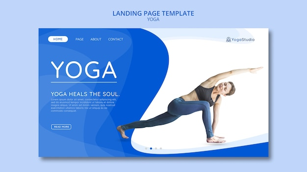 Landing page for yoga fitness Free Psd