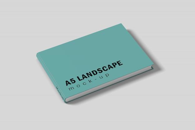 Landscape book cover mockup free psd Premium Psd
