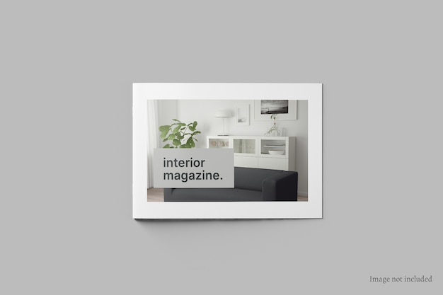 Макет обложки брошюры и каталога с пейзажем, вид сверху Premium Psd
