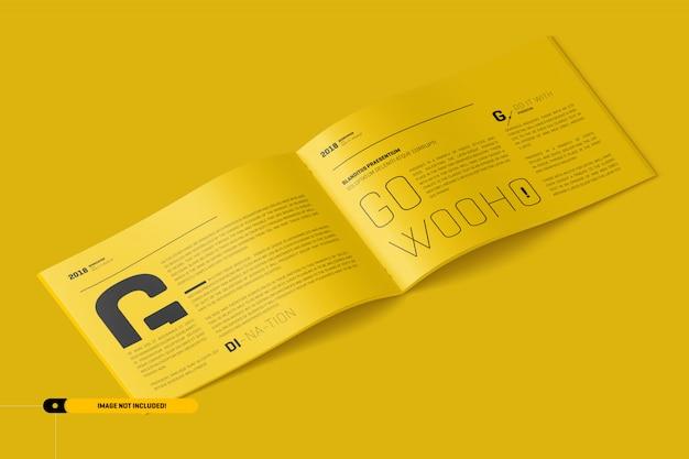 ランドスケープパンフレットモックアップ Premium Psd