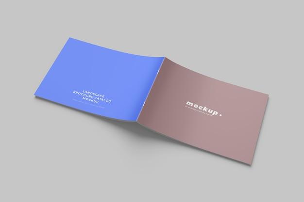分離された風景パンフレットのモックアップ Premium Psd