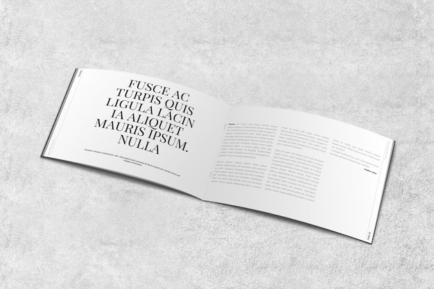 Landscape magazine or brochure mockup Premium Psd