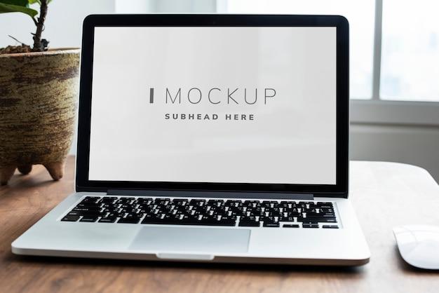 laptop digital device screen mockup psd file