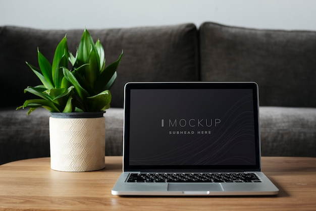 Laptop digital device screen mockup Free Psd