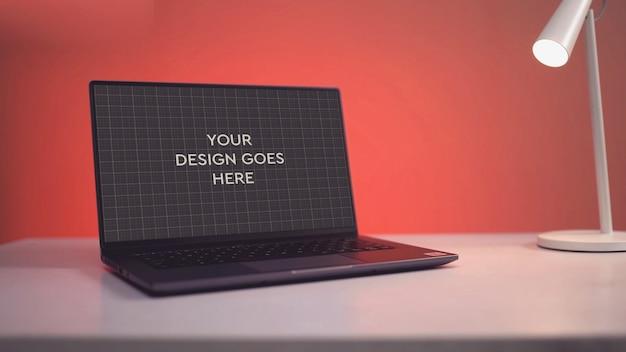 노트북 디스플레이 이랑 프리미엄 PSD 파일