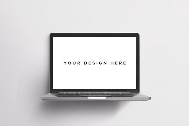 Laptop mockup on white Free Psd