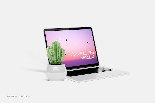 노트북 화면 모형 디자인 절연 프리미엄 PSD 파일