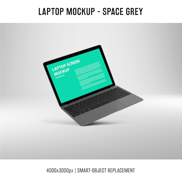 Laptop screen mockup Free Psd