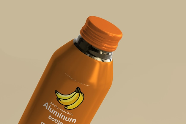 Макет большой алюминиевой бутылки для напитков Бесплатные Psd