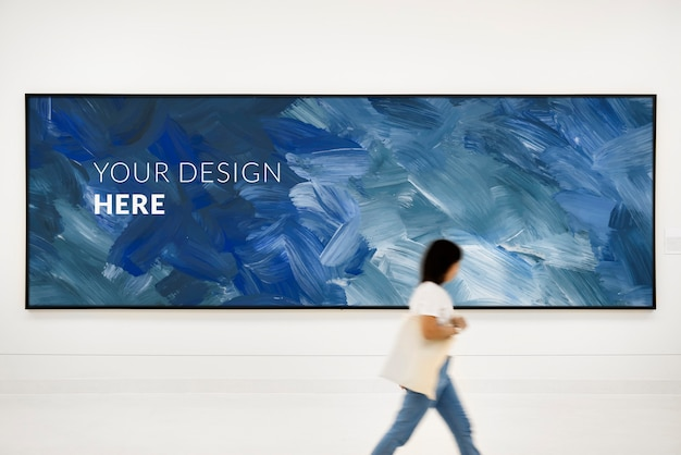 Large blank billboard Premium Psd