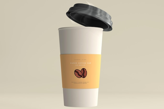 Large size paper coffee cup mockup Free Psd