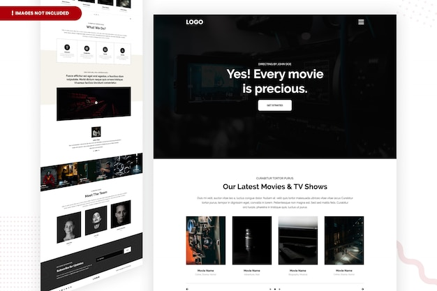 Страница последних фильмов и телепередач Premium Psd
