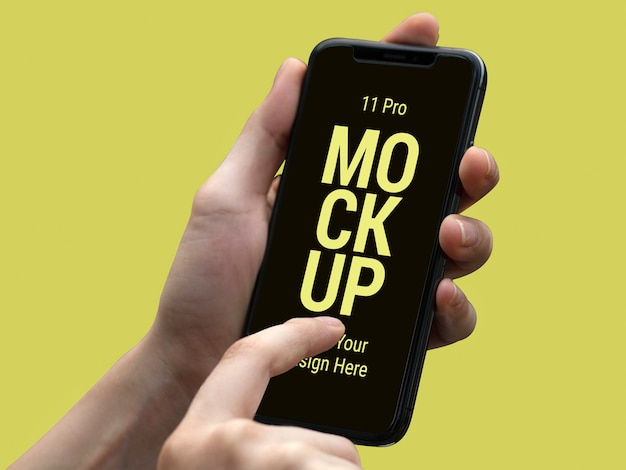 Latest smart phone pro mockup Premium Psd