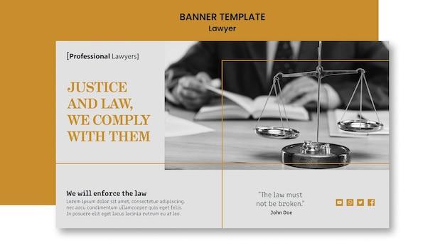 Шаблон баннера юридической фирмы Бесплатные Psd