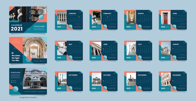Шаблон календаря для юридической фирмы Premium Psd