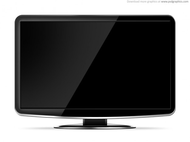 LCD HD TV template PSD file | Free Download